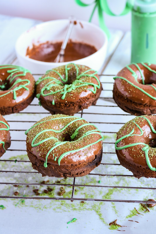Baked Gluten Free Bailey's Chocolate Donuts